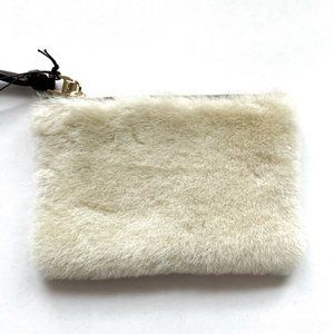 Kooba Faux Fur Small Wristlet Pouch Bag